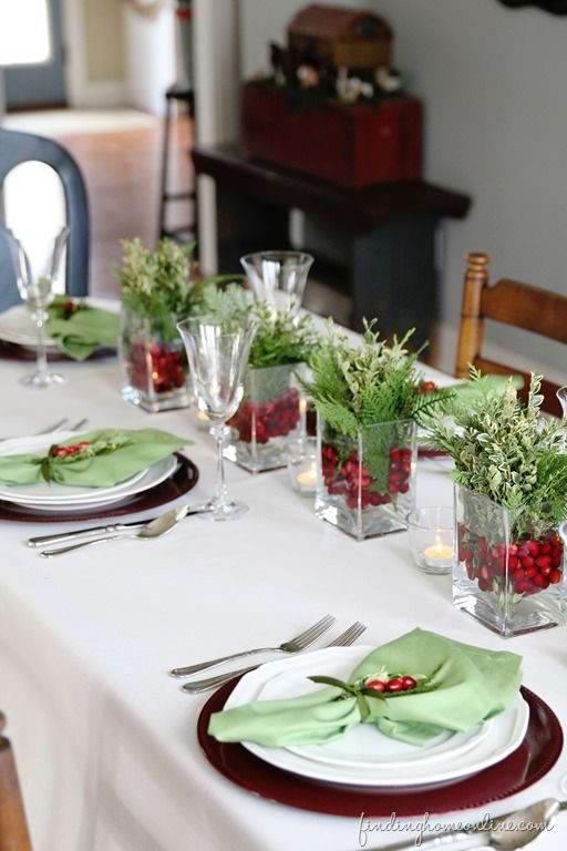 Detalhes na mesa de Natal