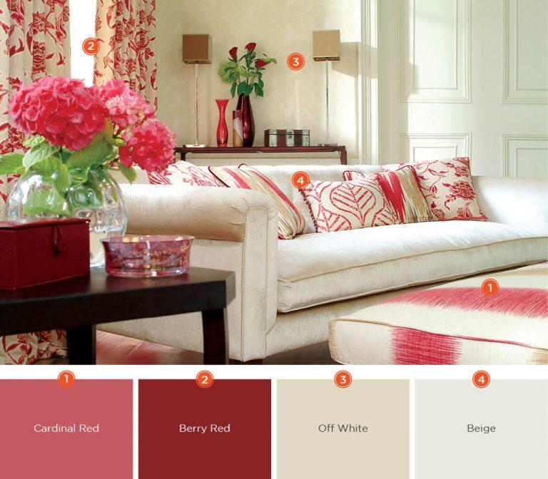 decoração em cores quentes