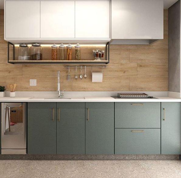 Projeto @viaraujo.arquitetura - Produtos Liverpool 26x106 e Terrazzo Veneziano Grigio 82x82