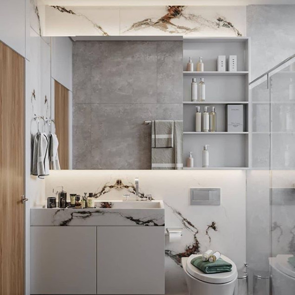Projeto @arquitetura.iv - Produto Capraia Lux 120x120