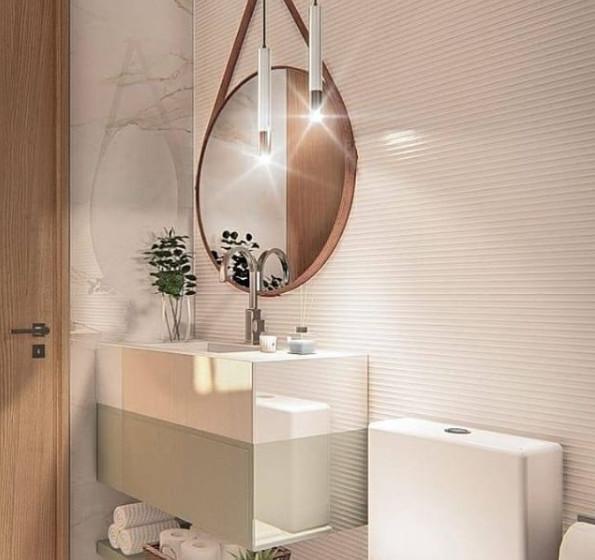 Projeto @suhelenrodrigues_arquitetura e @andocriando.arq - Produto Rig Bianco 45x90